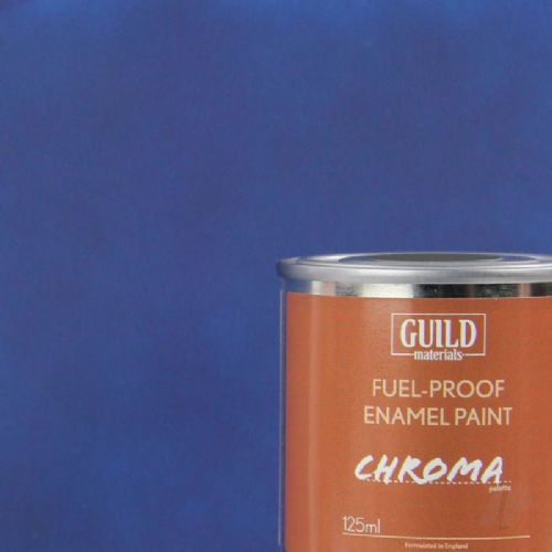 Guild Materials Matt Dark Blue Enamel Fuel-Proof Paint (125ml Tin) GLDCHR6304